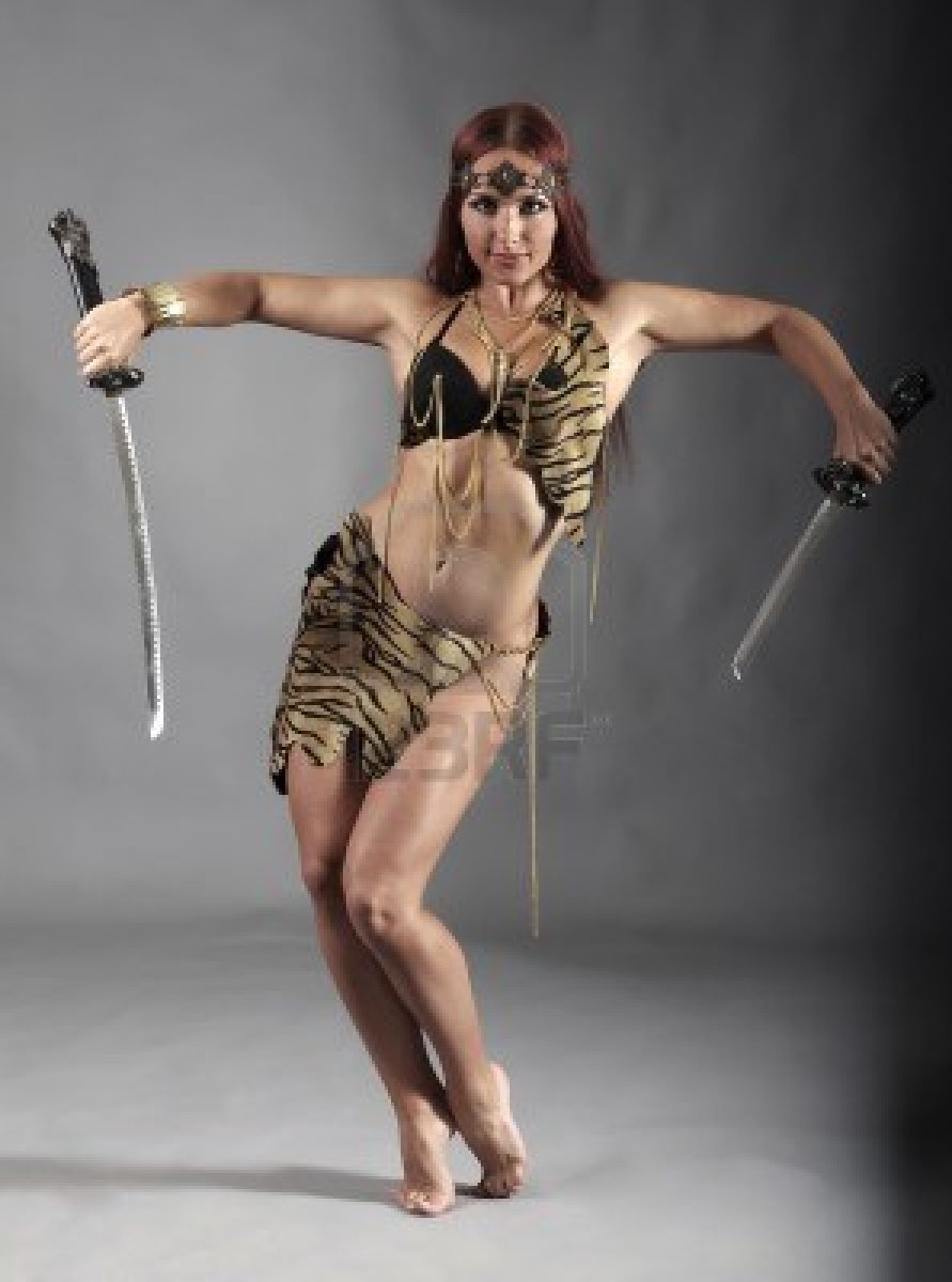 Naked women sword fighting, ryan in pantyhose